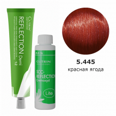 Набор безаммиачная краска 5.445 Deep Red Berries DEMI + безаммиачный окислитель 4,5%