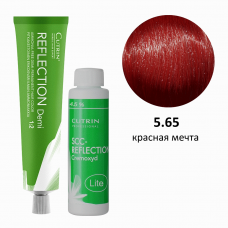 Набор безаммиачная краска 5.65 Deep Red Berries DEMI + безаммиачный окислитель 4,5%